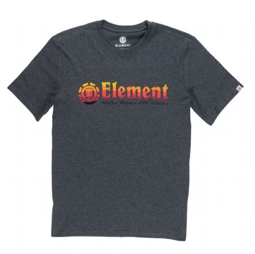ELEMENT MENS T SHIRT.NEW HORIZONTAL GREY COTTON  SHORT SLEEVED TOP TEE 8S B1 519